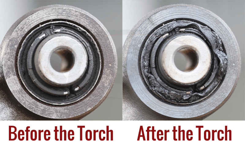 Burn Out Bushings Before After