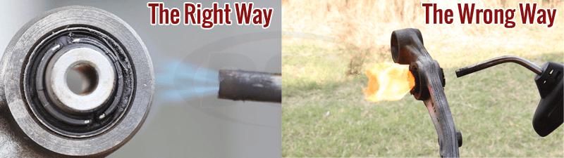 Burn Out Bushings Right vs Wrong