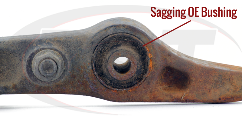 Polyurethane and Rubber Breakdown of Differences in Suspension Control Arm Bushings