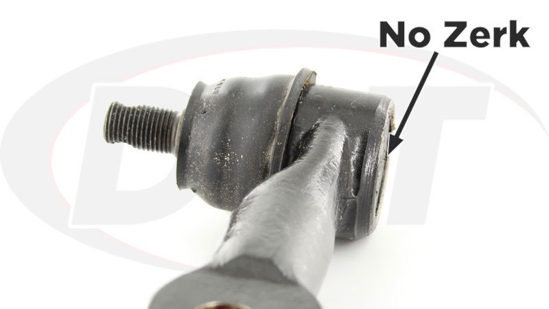 How to grease a tie rod with or without zerk fitting
