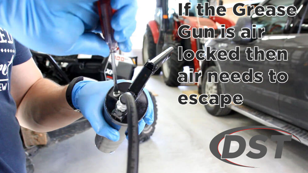 solution for air locked grease gun