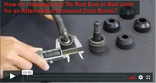 Universal Tie Rod Boots Dimensions video thumbnail