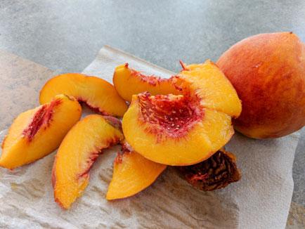 first peaches