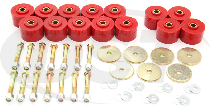 1963-1975 jeep wagoneer body mount bushing kit