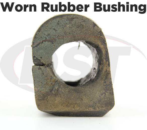worn rubber sway bar bushing