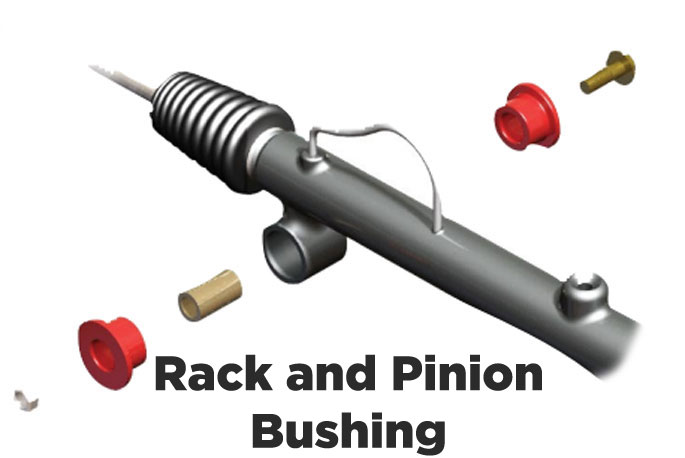 prothane rack and pinion bushing diagram