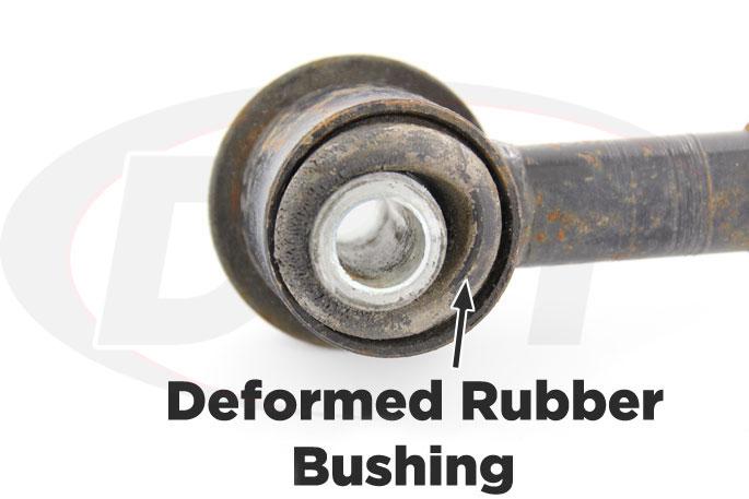 deformed original rubber bushing