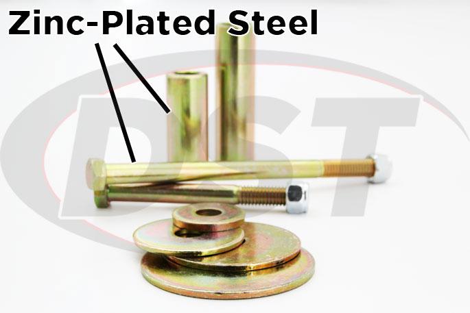 zinc plated body mount hardware