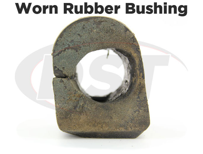 worn rubber sway bar bushings