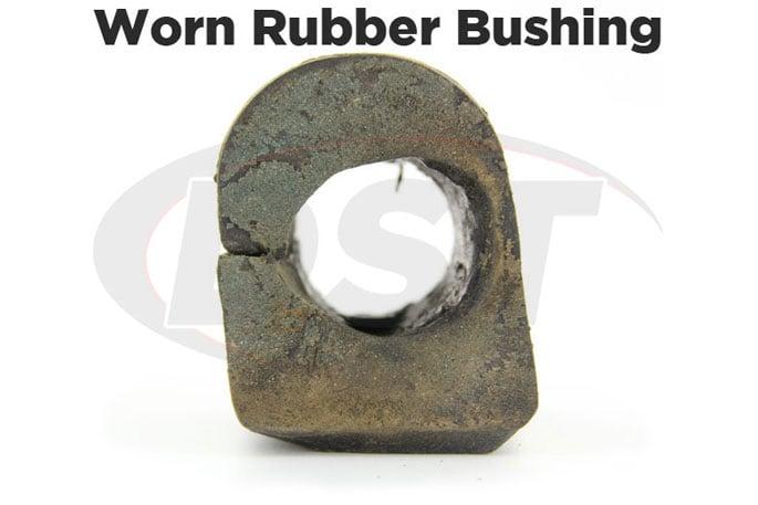 worn oe rubber sway bar bushing