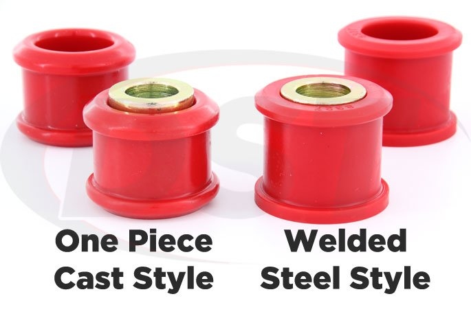 welded steel or one piece cast track arm bushings for f250 super duty