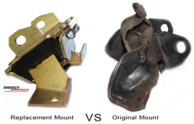 brand new Energy Suspension Motor Mount vs old motor mount