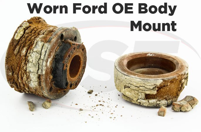 worn original ford body mount