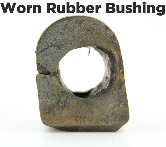 worn out rubber bushing
