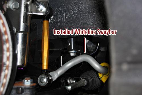 Whiteline Sway Bar Installed