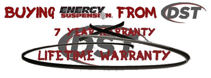 Energy Suspension Lifetime Warranty