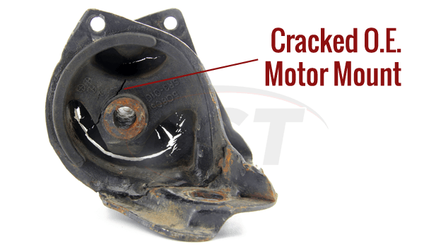 an old cracked motor mount