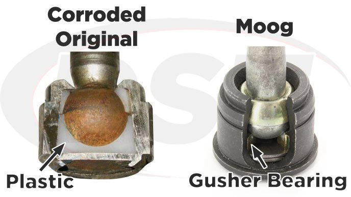 plastic vs metal ball joint