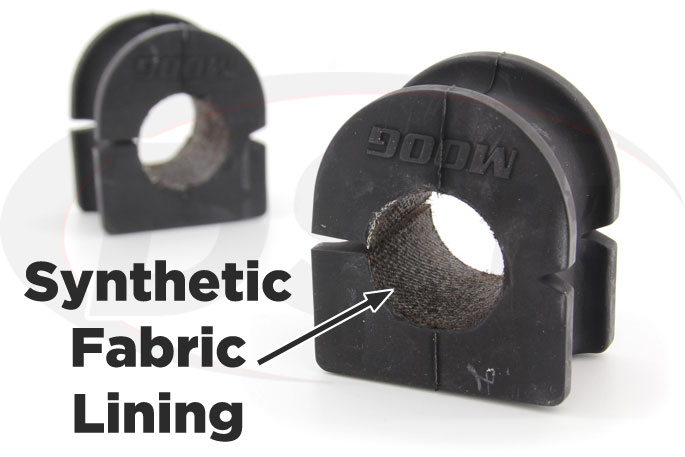 synthetic fabric lined sway bar bushings for chevy and gmc