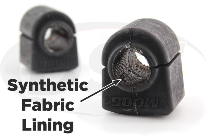 synthetic fabric lined front sway bar bushings for g5 and cobalt