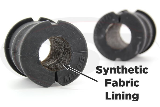 synthetic fabric lined front sway bar bushings 08-15 challenger