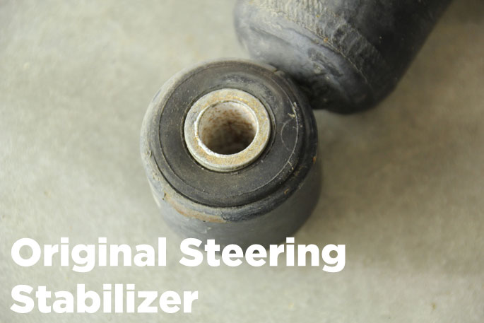 the original stock steering stabilizer