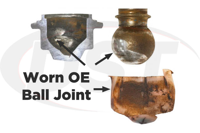 worn chevy original ball joint