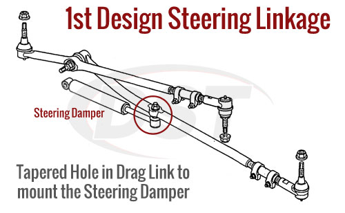 this model will not fit models with the 1st steering design  these models  have a tapered hole for mounting the steering damper: