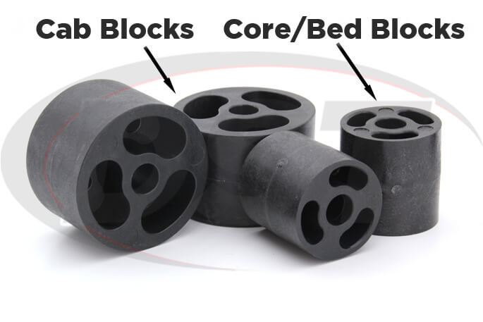toyota pickup body lift kit nylon blocks