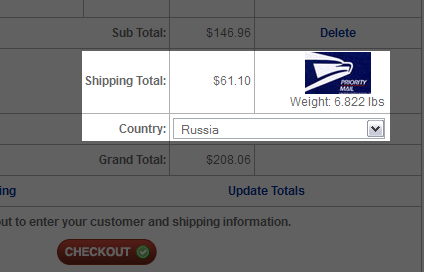 Shipping Suspension.com in Russia