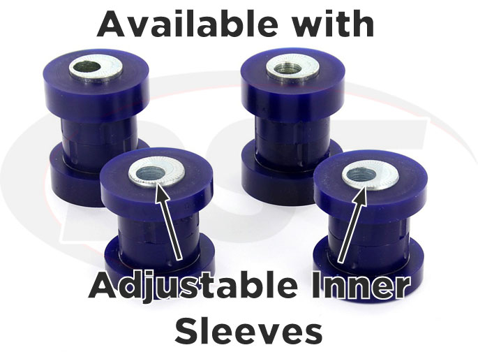 camber adjustable rear control arm bushings for subaru