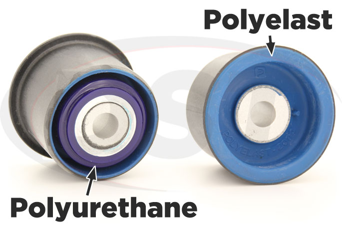 polyurethane and polyelast rear differential mounts for mustang