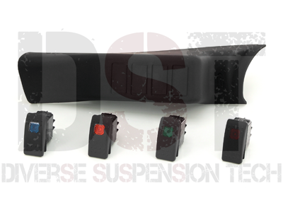 Jeep Wrangler JK 2008 A-Pillar Switch Pod with 4 Switches