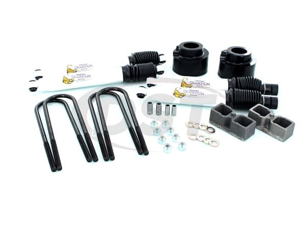 Suspension Lift Kit Combo - 2.5 Inch Front 2 Inch Rear with Shocks