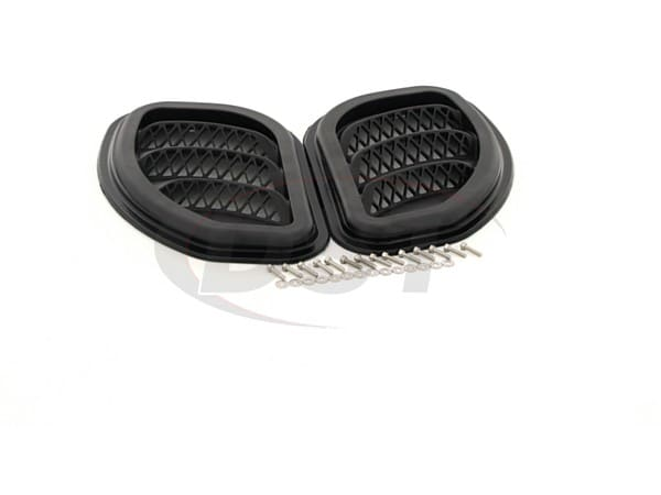 Jeep Wrangler JK Side Hood Vents - Black, Pair