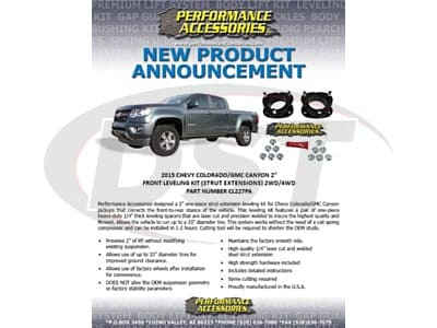 Performance Accessories Lift Kits for Colorado, Canyon
