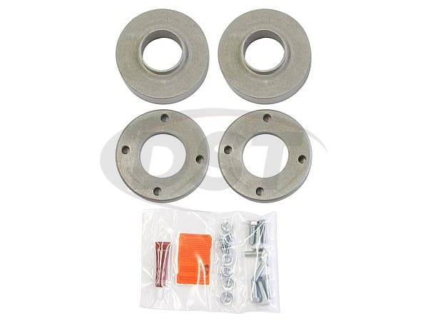 patl223pa Leveling Kit - 2.5 Inch - Gas Models - (Machined billet aluminum Leveling Kit spacers)