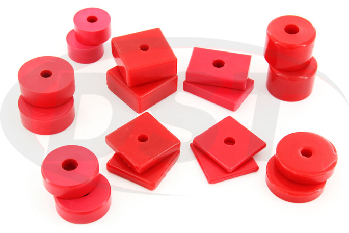 polyurethane isolator mounts pads assortment