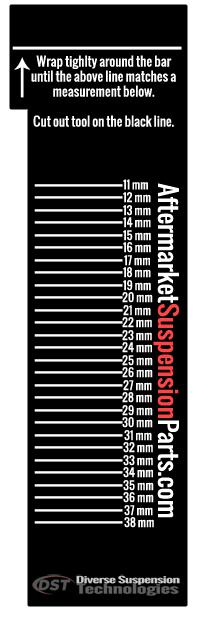 Metric MM Sway Bar Measuring Tool