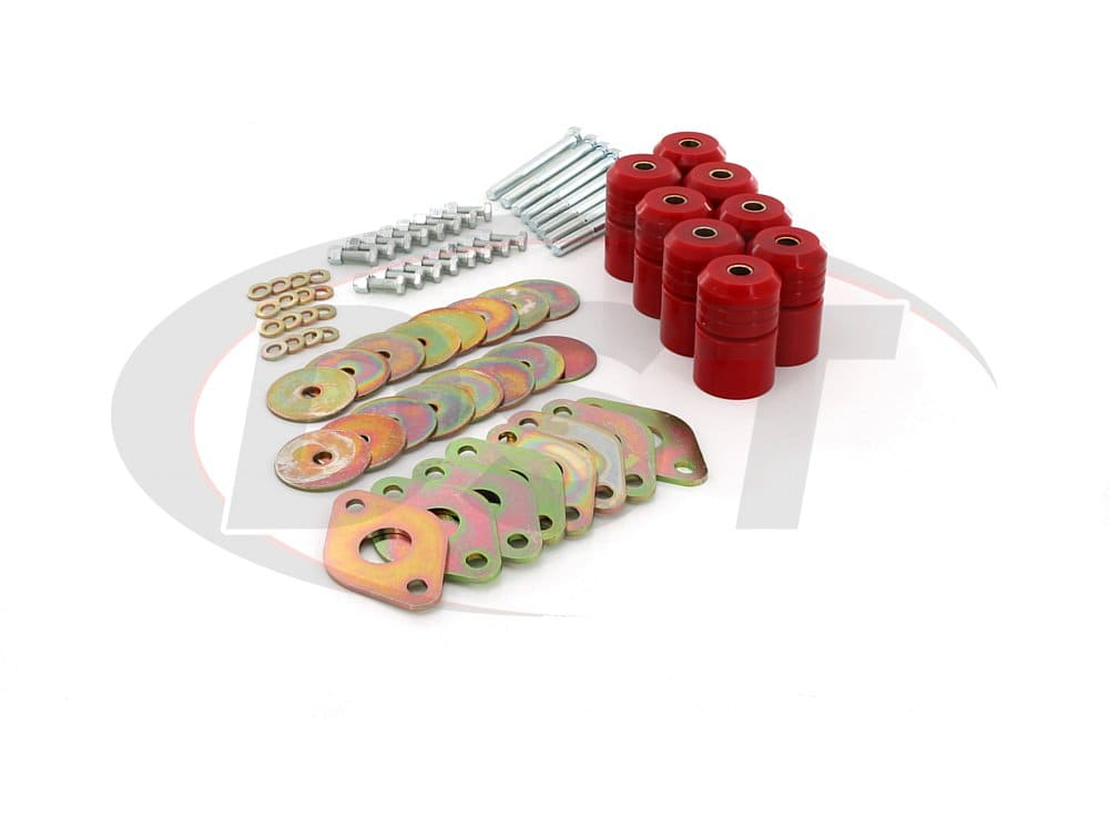 2.4112 Body Mount Bushings Kit - 1 Inch Lift - 2 Door