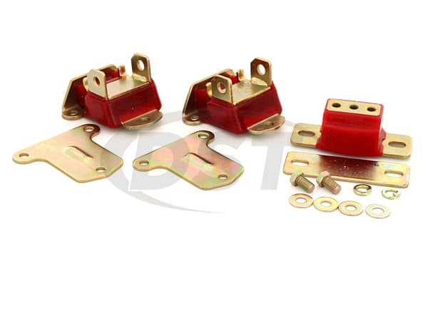 3.1122 Motor and Tranny Mount Combo Set - Zinc