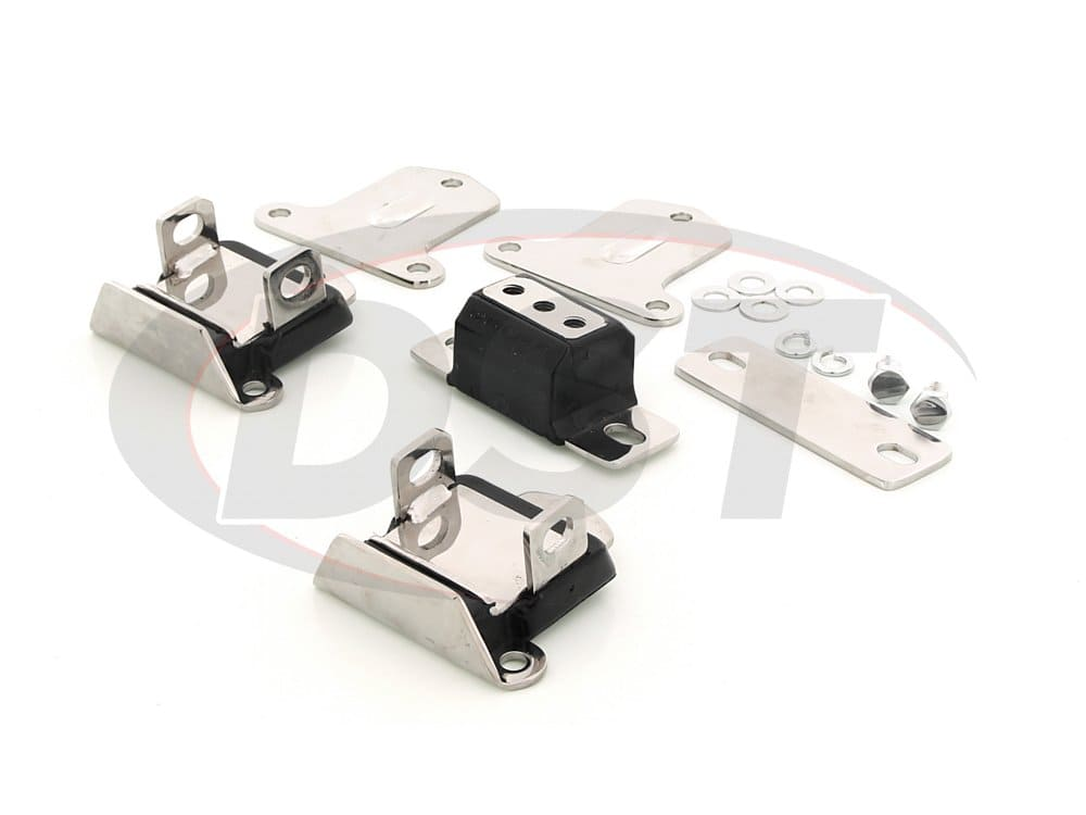 3.1133 Engine and Transmission Mount Combo - Chrome