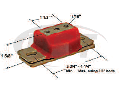 3.1158 Transmission Mount - Short