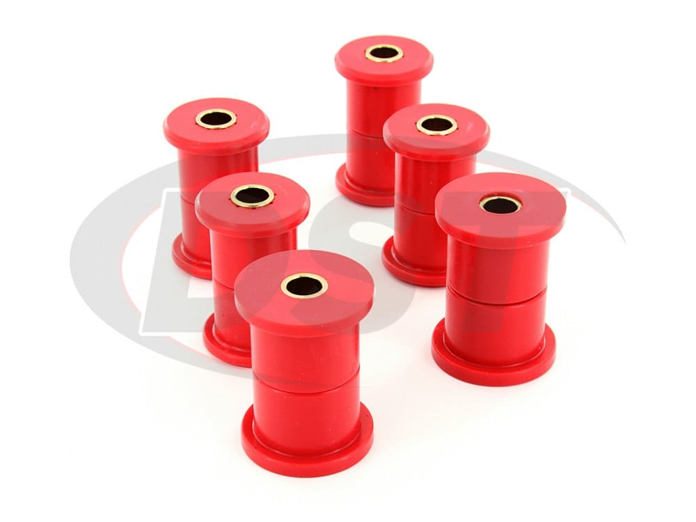 3.2107 Rear Leaf Spring Bushings - 1.75 Inch Main Eye - 1.5 Inch Frame Shackle Bushing