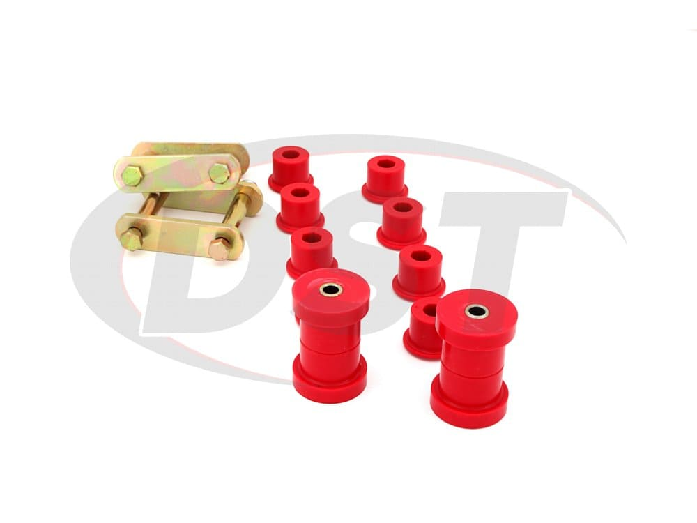 3.2134 Shackle Set - Multi Leaf (Includes all Spring Bushings)