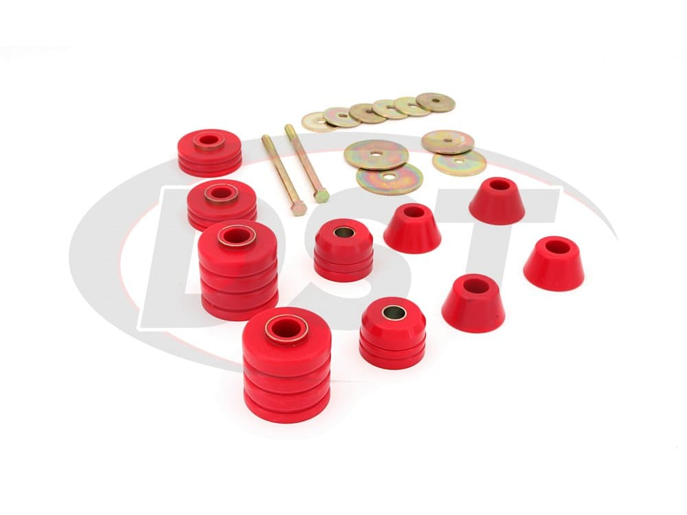 3.4107 Body Mount Bushings and Radiator Support Bushings