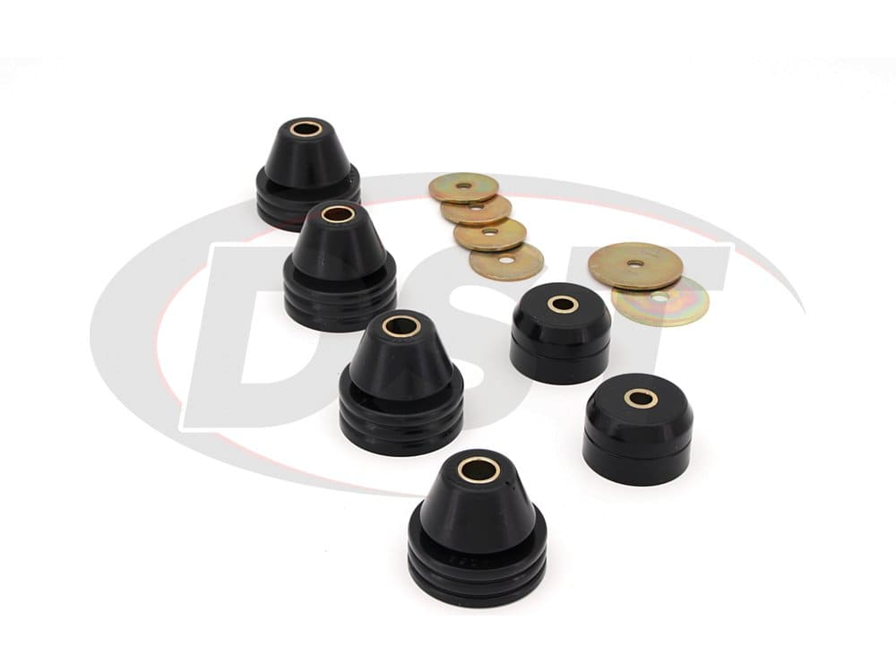 3.4108 Body Mount Bushings and Radiator Support Bushings