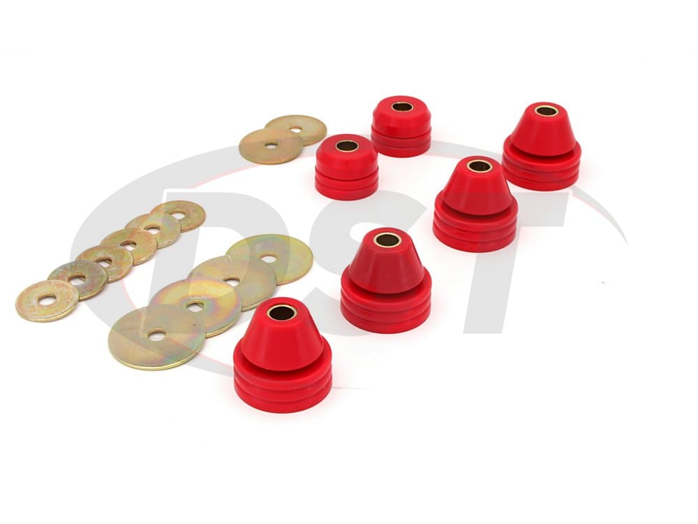 3.4109 Body Mount Bushings and Radiator Support Bushings