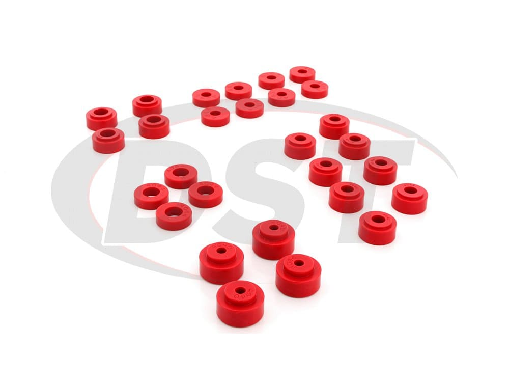 3.4114 Body Mount Bushings and Radiator Support Bushings - Convertible