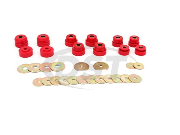3.4138 Body Mount Bushings and Radiator Support Bushings - 2 Door Hardtop